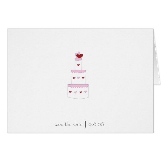 Save the Date Card -- wedding cake design