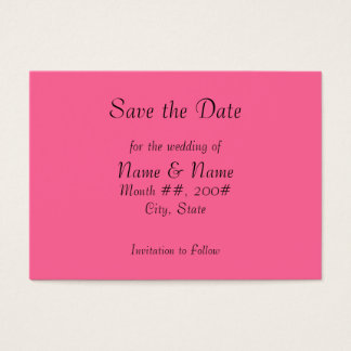 Save the Date card with flowers on the back