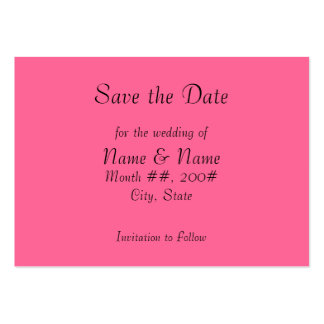 Save the Date card with flowers on the back Pack Of Chubby Business Cards