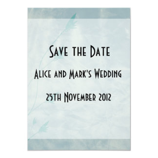 Save the Date Cards Aged Blue Flowers 11 Cm X 16 Cm Invitation Card