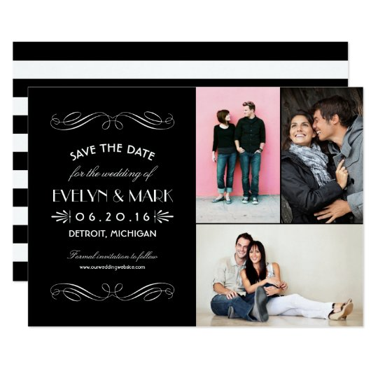 Save the Date Cards   Art Deco Collage