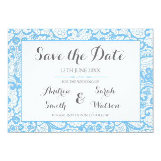 Save the Date cards , Blue Lace Design