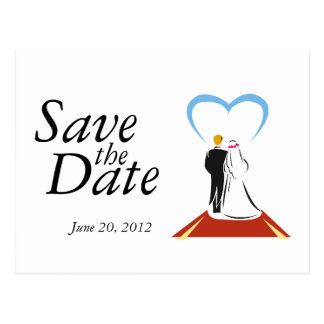 Save the Date Cards  Bride Groom Couple