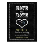 Save the Date Chalkboard Postcard