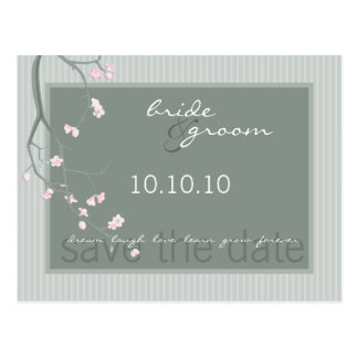 SAVE THE DATE :: cherry blossom Postcard