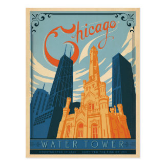 Save the Date | Chicago, IL - Water Tower Postcard