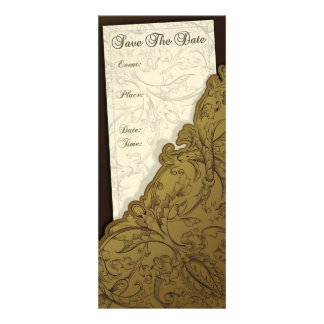 Save The Date - Chocolate Gold Vintage Invites