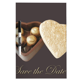 Save The Date Chocolate Hearts Dry Erase Boards