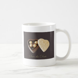 Save The Date Chocolate Hearts Mugs