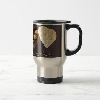 Save The Date Chocolate Hearts Coffee Mugs