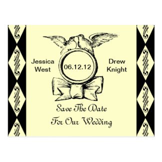 Save The Date - Choose your own color background Postcard