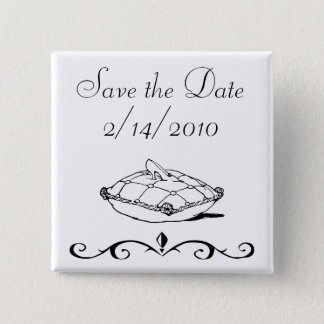 Save the Date Cinderella Slipper Fairytale Art 15 Cm Square Badge