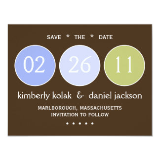"""Save the Date"" Circles 11 Cm X 14 Cm Invitation Card"