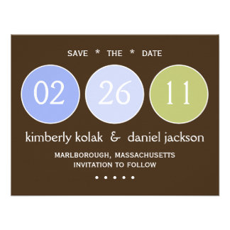 Save the Date Circles Announcements