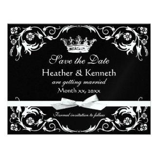 Save the Date Crown Metallic Invitations