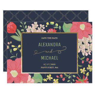 Save the Date - Custom Card - Floral, Garden