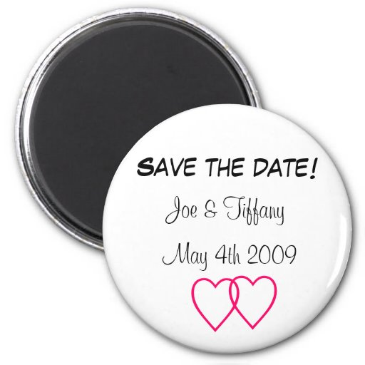 """Save the date"" Custom magnet"