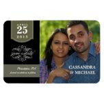 Save the Date - Custom Photo Wedding Announcement Vinyl Magnets