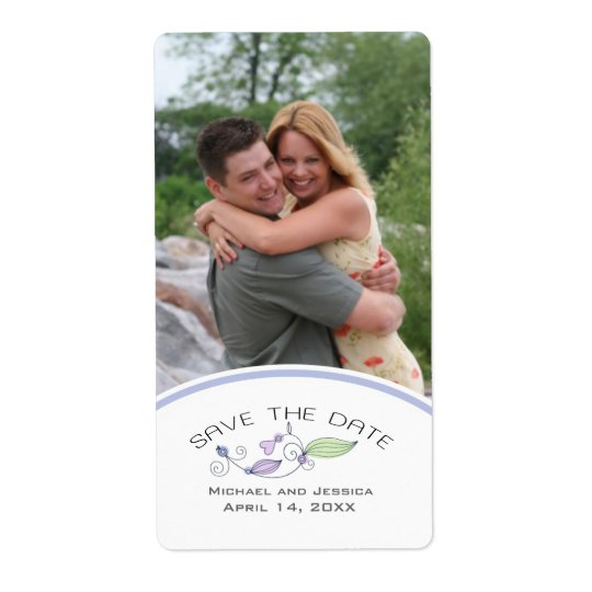 Save the Date Custom Photo Wine Label