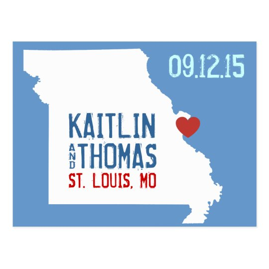 Save the Date - Customisable - Missouri Postcard