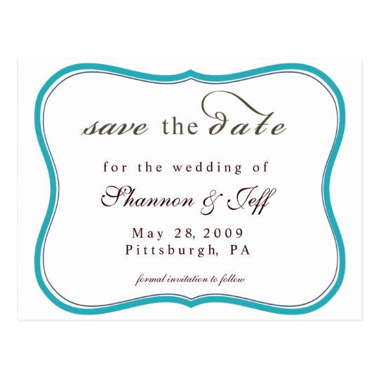 Save The Date, Customisable Postcard