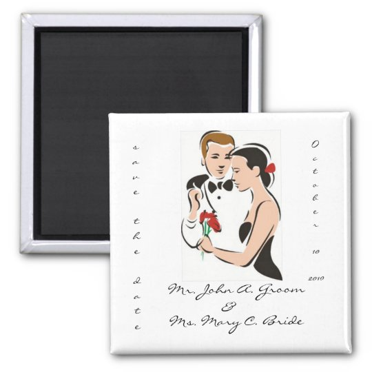 Save the Date Customisable Wedding Magnet