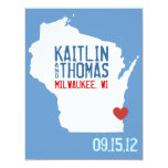 Save the Date - Customisable - Wisconsin 11 Cm X 14 Cm Invitation Card