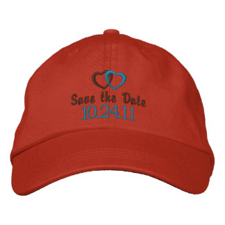 Save the Date Customizable Embroidered Hats