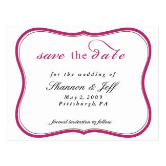 Save The Date, Customizable Postcard