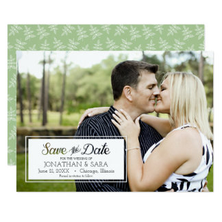 Save The Date Cut Out Text Horizontal Photo Card