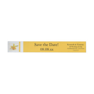 Save the Date Daffodil Spring wedding Wrap Around Label