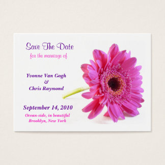 Save The Date Daisy Pink I Business Card