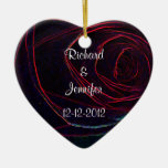 Save the Date-Deep Red Rose Heart