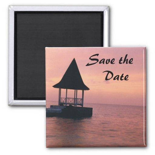 Save The Date Destination Wedding Magnet Zazzle