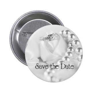 Save the Date Diamon Engagement Ring 6 Cm Round Badge