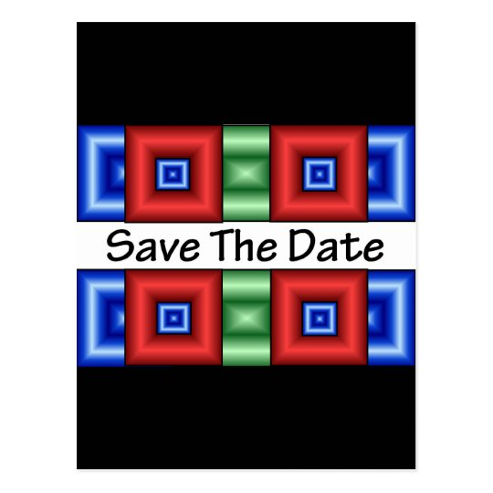 Save the Date Disco Postcard