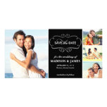 Save the Date | Elegant Curves White Announcement Personalised Photo Card