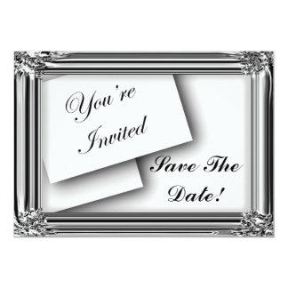 "Save The Date Elegant Invitations 5"" X 7"" Invitation Card"