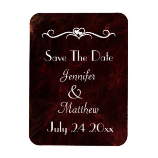 Save The Date Elegant Smoke and Fire Abstract Magnet