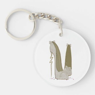 Save the Date Elegant Stiletto Key Chain