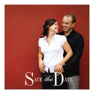 Save the Date Engagement Photo and Monogram 13 Cm X 13 Cm Square Invitation Card