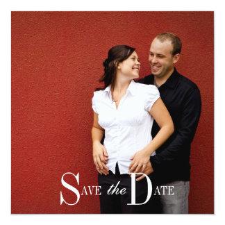 Save the Date Engagement Photograph 13 Cm X 13 Cm Square Invitation Card