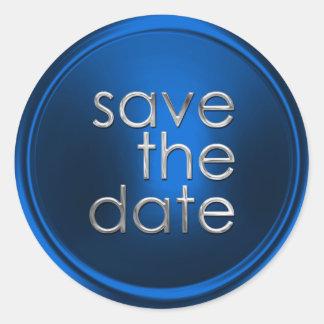 Save the Date Envelope Seal Round Sticker
