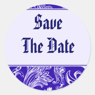 Save The Date Envelope Seals Round Sticker