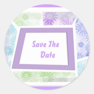 Save The Date ... Envelope Seals Round Sticker