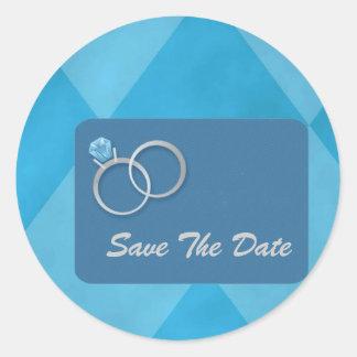 Save The Date..Envelope Seals Round Sticker
