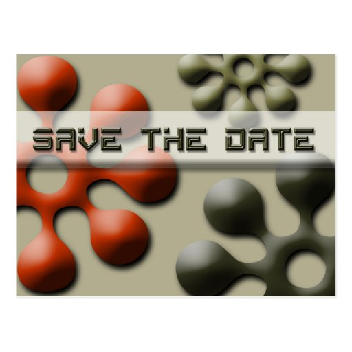 Save The Date Event Notification Postcard