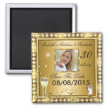 Save The Date Fabulous 30 Photo Gold Glam Birthday