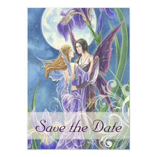Save the Date Fairy Tale wedding card invitation