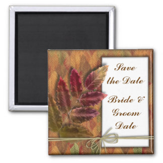 Save the Date Fall Autumn Wedding Magnets Refrigerator Magnet